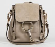 Rucksack 'Faye Backpack Mini' mit Veloursleder-Detail Motty Grey - Leder