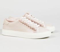 Leder-Sneaker mit Rüschen-Details Rosé - Leder