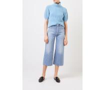 Kurzarm Cashmere-Pullover 'Fenja' Hellblau