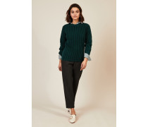 Grobgestrickter Pullover Grün