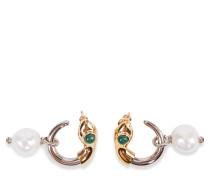Ohrringe mit Perlendetail Gold/Silber