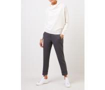 Cashmere-Pullover mit Turtleneck Weiß