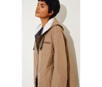 Baumwoll-Jacke mit Perlenverzierung Braun