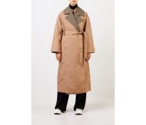 Klassischer zweifarbiger Trenchcoat Beige/Khaki