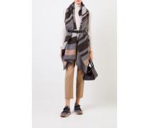 Cashmere-Schal mit Gürtel Grau/Beige