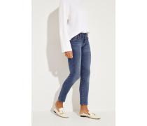 Mid-Rise Skinny Jeans 'Roxanne' Blau