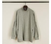 Sweatshirt mit Stehkragen 'Page' Grau