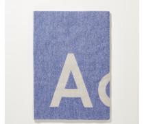 Klassischer Wollschal 'Toronty Logo' Royalblau
