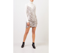 Kurzes Paillettenkleid 'Deva' Silber