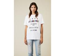 T-Shirt mit Print Weiß/Multi