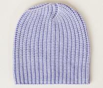 Grobstrick-Mütze 'Amelia' Blau - Cashmere