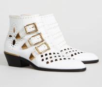 Ankle Boots 'Susanna' Weiß - Leder