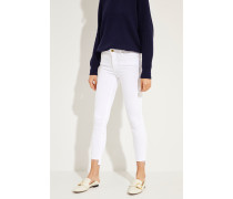 Mid-Rise Skinny Jeans 'Jeanne' Weiß