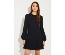 Kurzes Kleid mit Rückenausschnitt Schwarz