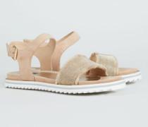 Sandale mit verzierten Riemchen '98 Sand Road' Beige - Leder