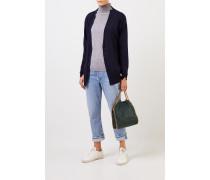 Woll-Cardigan Marineblau