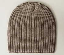 Grobstrick-Mütze 'Amelia' Taupe - Cashmere