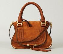 Handtasche 'Marcie Small' Caramel - Veloursleder