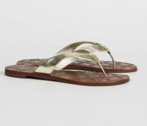 Sandale 'Monroe Thong' Spark Gold - Leder