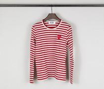 Gestreiftes Longsleeve Rot/Weiß - 100% Baumwolle