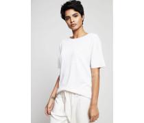 Seiden-Cashmere Oversized Shirt Weiß - Cashmere