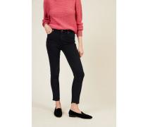 High Rise Skinny Jeans 'Rocket Cropped' Blau