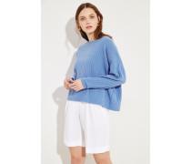 Oversize Cashmere-Pullover Blau