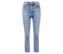 High Rise Crop Jeans 'Riley' Hellblau
