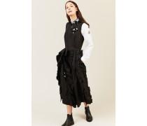 Kleid mit Rüschen-Details Schwarz