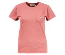 Baumwoll T-Shirt 'Tricolor Fox Patch' Pink