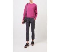 Cashmere-Pullover mit Perlenverzierung Pink
