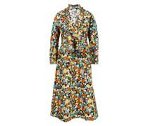 Baumwoll-Kleid mit floralem Print