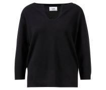 Cashmere-Pullover mit R-Neck und 3/4 Arm