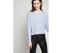 Pullover mit Glitzerfaden-Detail Blau - Cashmere