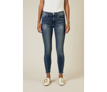 Skinny Jeans 'Le High Skinny' mit Auswaschungen Blau