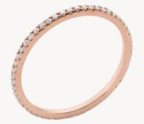Edelstein-Pavée-Ring Multi 18 Kt. Roségold