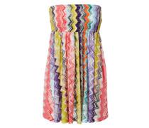 Bandeau-Kleid mit Zick-Zack-Muster Multi