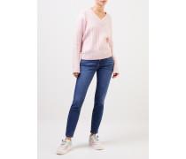 Midrise-Jeans 'Tess' Mittelblau