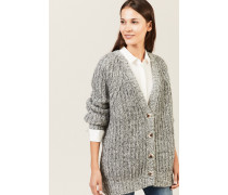 Oversize Woll-Cardigan Grau