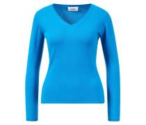 Cashmere Pullover mit V-Neck Petrol Blau