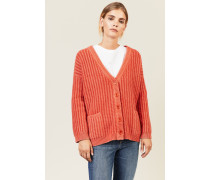 Grobgestrickter Cardigan Orange