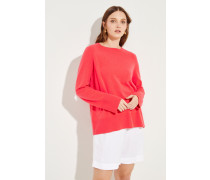 Cashmere-Pullover mit O-Neck Pink