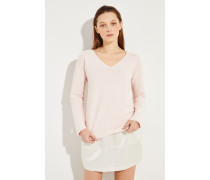 Baumwoll-Pullover Rosé