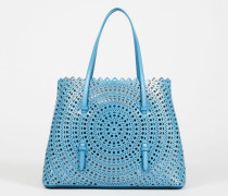 Tasche 'New Vienne' gestanztes Leder Blau - Leder