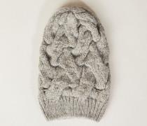 Woll-Seiden-Strickmütze Sand - Cashmere