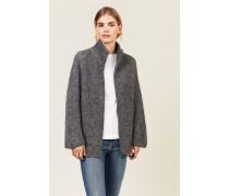 Alpaca-Woll-Strickjacke Grau - Cashmere