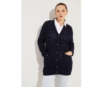 Woll-Cashmere-Cardigan 'Portia' Marineblau