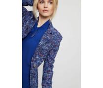 Taillierter Tweedblazer Blau/Multi