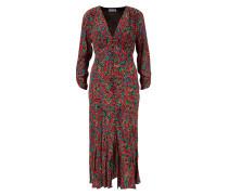 Langes Kleid 'Katie' mit Paisleymuster Rot/Multi