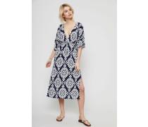 Gemustertes Kleid 'Tapestry Geo Beach' Navy/Ivory